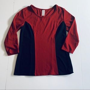 Avon Long Sleeve Color Block Tee size Large